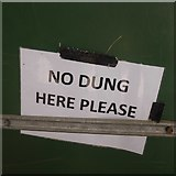 NT1473 : No Dung Here Please by Richard Webb