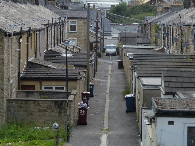 Houses next to the Leeds and Liverpool Canal in Burnley