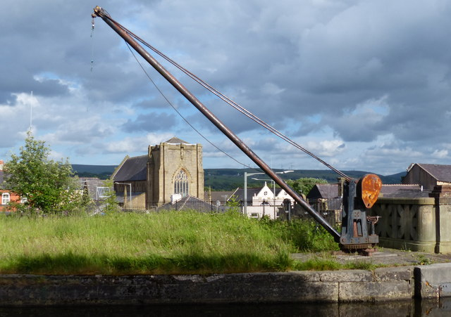 Old crane along the Leeds and Liverpool Canal in Burnley