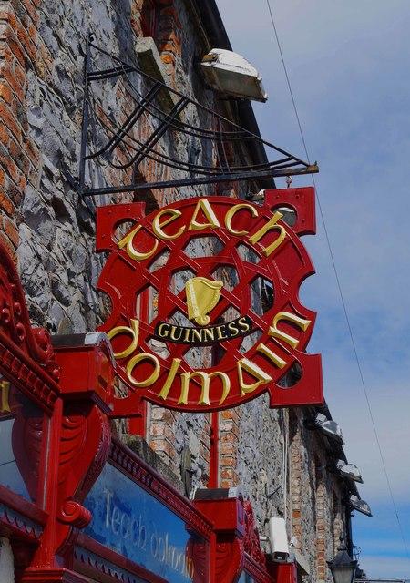 Raths Teach Dolmain (2) - sign, 76 Tullow Street, Carlow