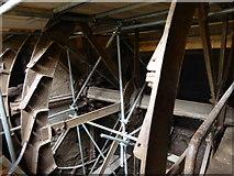 NY4756 : Warwick Bridge Mill - waterwheel by Chris Allen