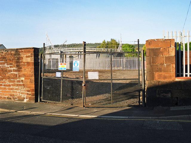 Entrance to former gasworks site