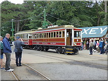 SC4384 : Laxey: Car 9 with enclosed trailer 58 by Dr Neil Clifton