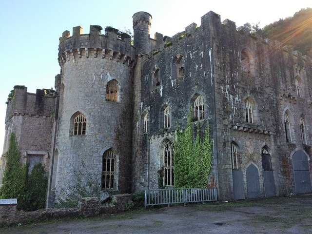 The main building at Gwrych Castle