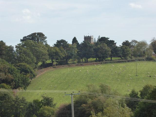 Church Pulerbatch viewed from near Wrentnall