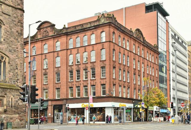 Former Fulton's warehouse, 52-58 Howard Street, Belfast (October 2018)