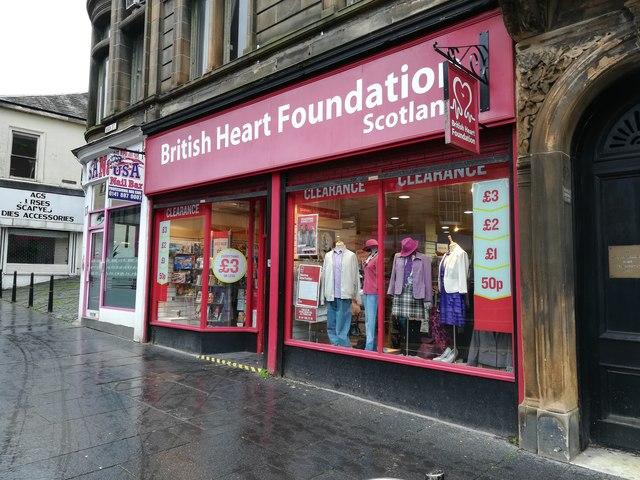 British Heart Foundation shop, Paisley