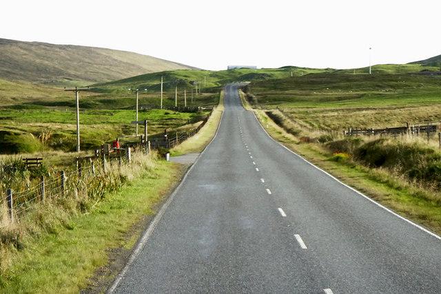 Isles Road (A968) near Lower Sandgarth