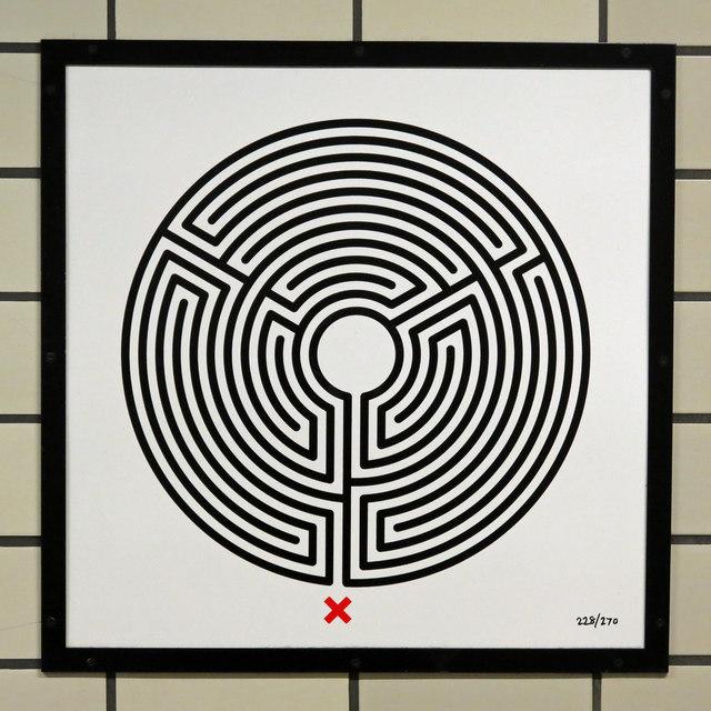 Caledonian Road tube station - Labyrinth 228