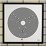TQ3084 : Caledonian Road tube station - Labyrinth 228 by Mike Quinn