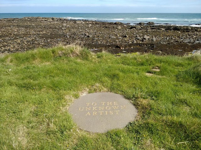 Artwork on the shore, Helmsdale, Sutherland