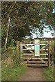 NY4058 : Footpath gate north west of Tarraby by Graham Robson