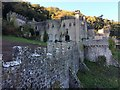 SH9277 : The main building and castle walls by Richard Hoare