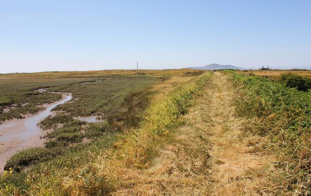 The Anglesey Coastal Path approaching Traeth y Gribin