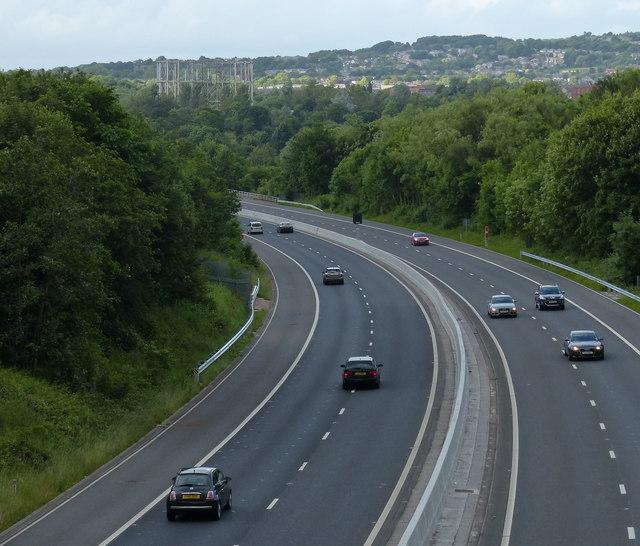 M65 motorway towards junction 11 in Burnley
