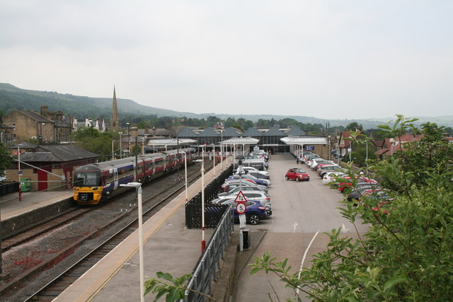 Ilkley station and car park