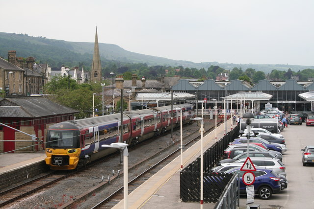 Ilkley station, with Class 333 unit for Leeds