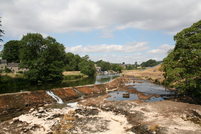 Linton Lower Weir in drought conditions