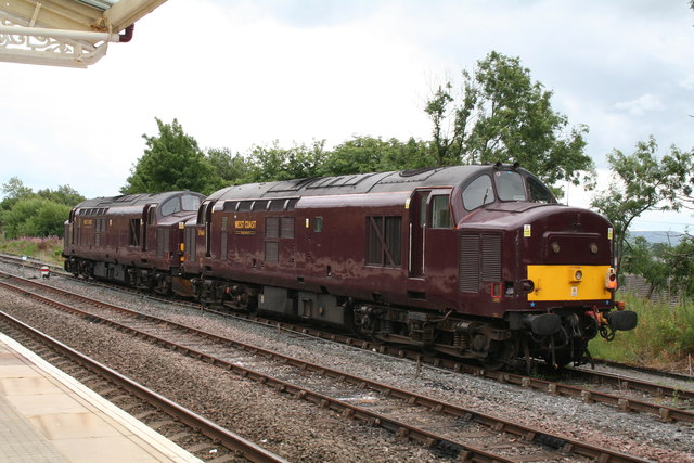 Class 37 locos at Hellifield