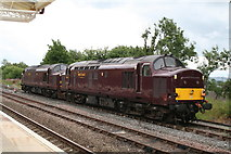 SD8557 : Class 37 locos at Hellifield by Dr Neil Clifton