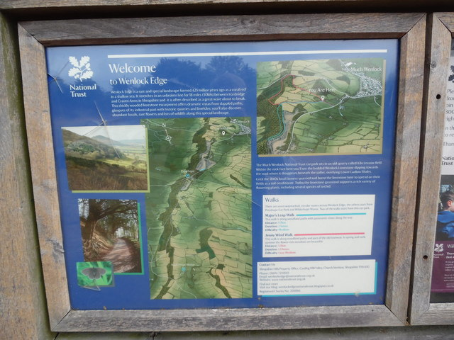 National Trust Information Board at Wenlock Edge (2)