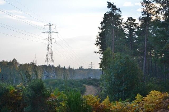 Power line near Achnasoul