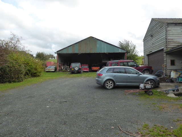 Cars in the yard and shed at Pentre-Cwm