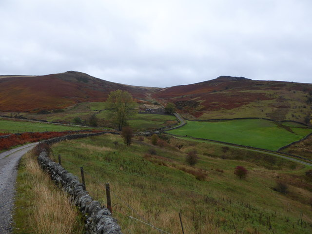 Track up towards Callow and Fiddler's Elbow
