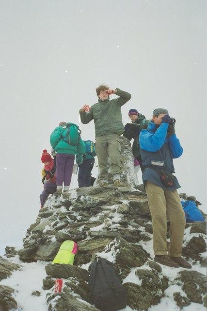 Summit Trig Pillar, Snowdon, 1993