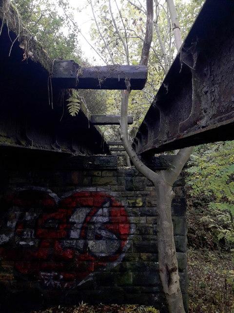 Shipley: view along a dangerous bridge