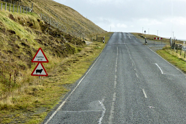 Cattle Grid on the A968 near Freedom