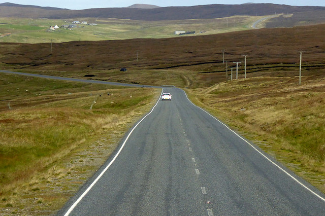 A968 between West Yell and West Sandwick