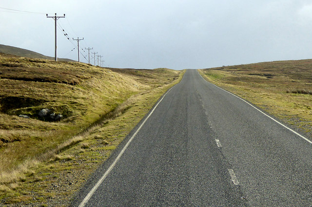 Telegraph Wires alongside the A968