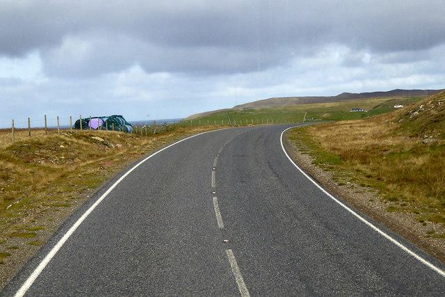 A968 Northwards towards West Sandwick