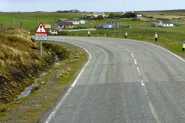A968 near Camb