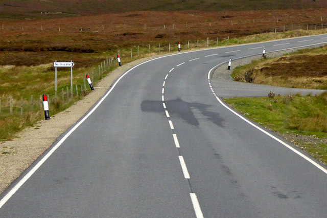 Road Junction on the A968 near Camb