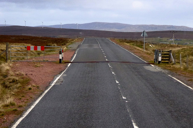 A968, Cattle Grid near Basta