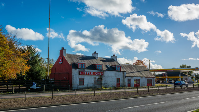 Abandoned Little Chef on the A9
