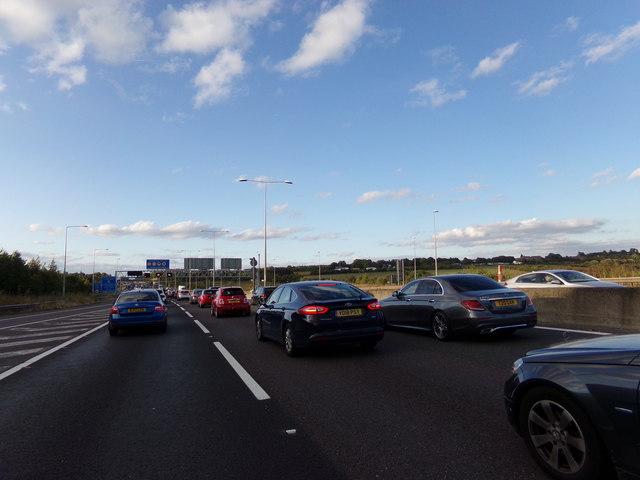 M25 London Orbital Motorway, Darenth