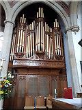 SD7442 : Clitheroe parish church: organ case by Stephen Craven