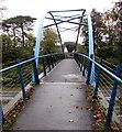SS6699 : Footbridge over the M4 motorway, Morriston, Swansea by Jaggery