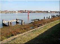 TG5107 : The River Yare by Breydon Bridge by Evelyn Simak