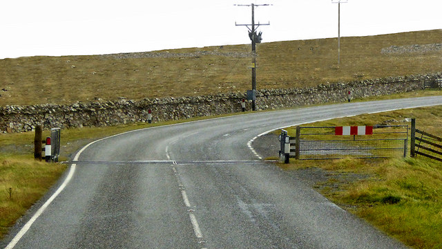 Cattle Grid on the A968 near Caldbeck
