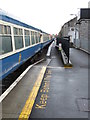 M4502 : New and old platforms at Gort station by Gareth James