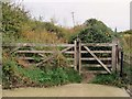 SP4514 : A gate on the bridleway by Steve Daniels