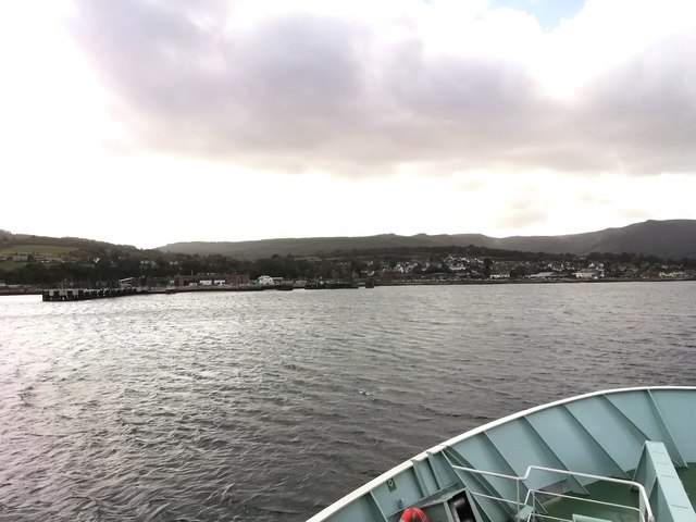 Approaching Brodick Pier