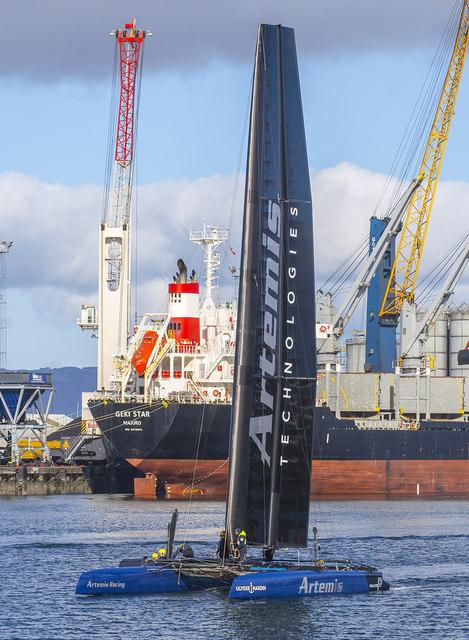 Artemis Racing yacht, Belfast