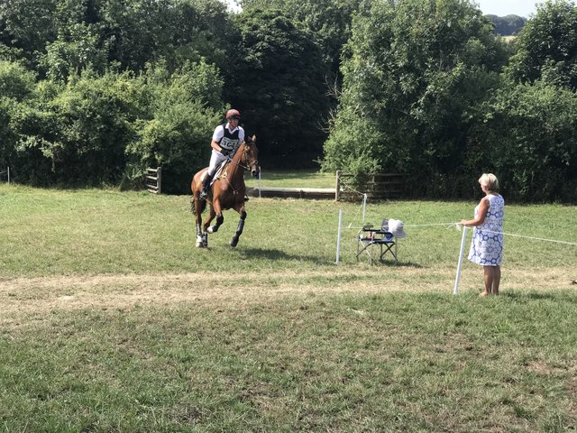 On the cross-country course at Gatcombe