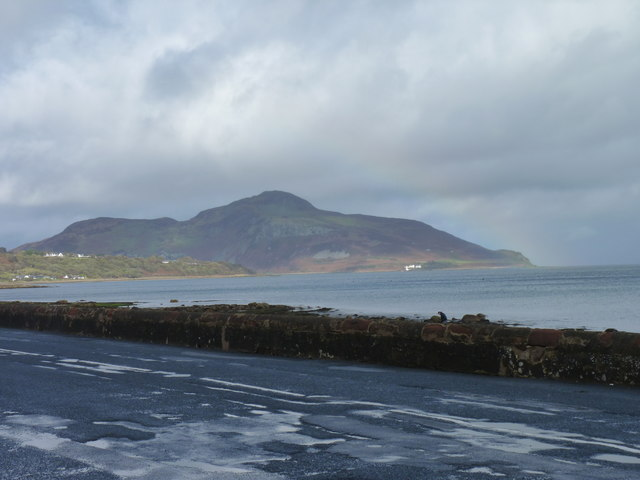 Holy Isle seen from Whiting Bay