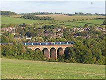 TQ5365 : Southeastern train crossing the Eynsford Viaduct by Marathon